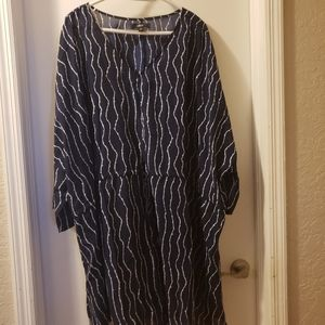 Like New Navy Ellos Caftgan-like Tunic